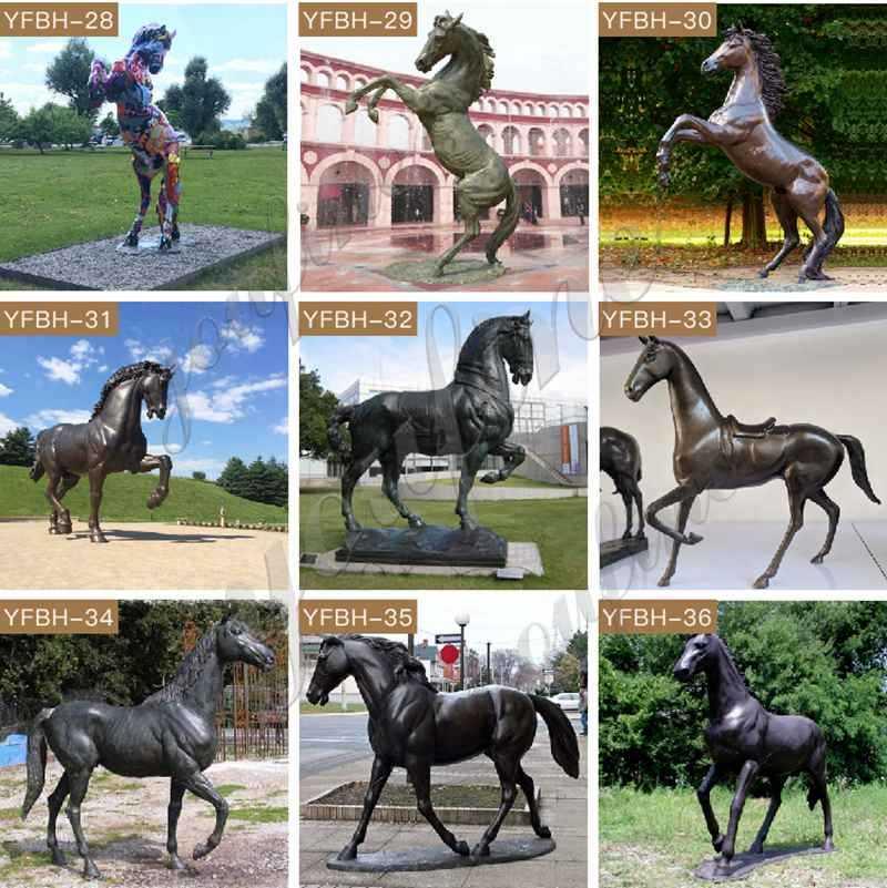 bronze horse and rider statue