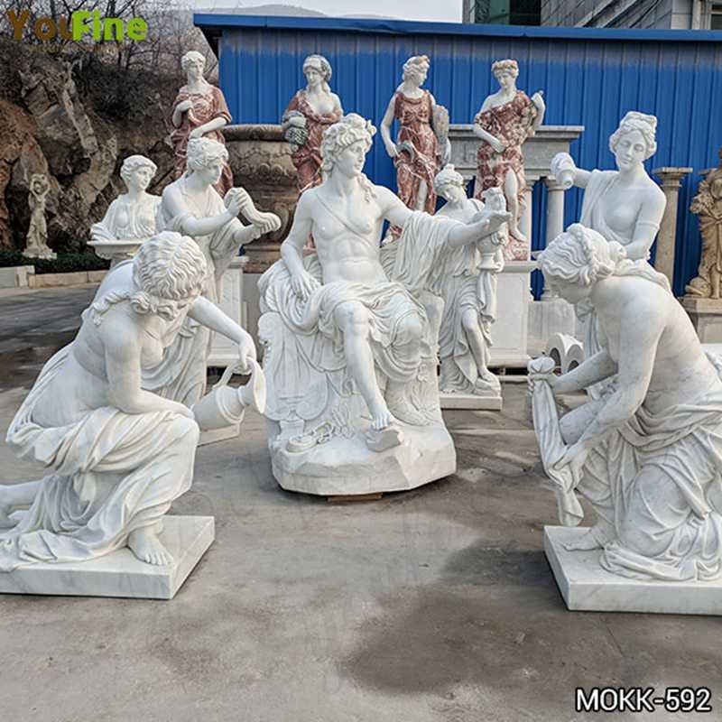 outdoor garden marble sculpture