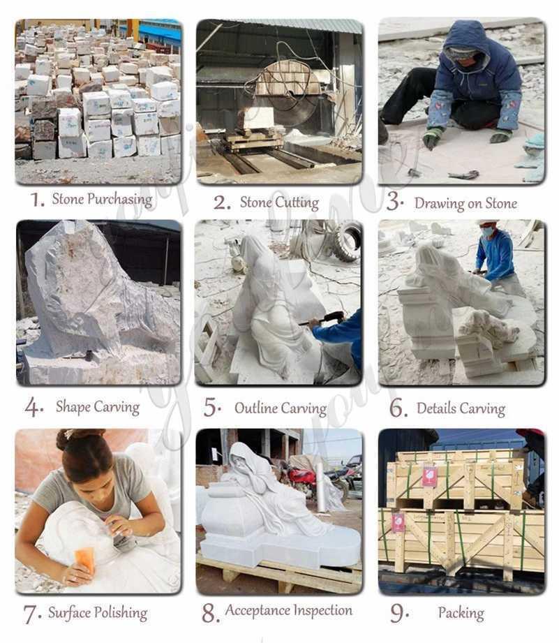 process of Rebellious Slave Statue