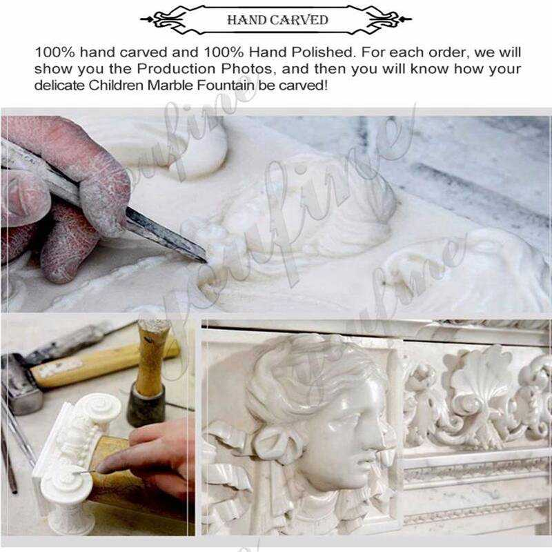 process of Two Tiered Marble Garden Fountain