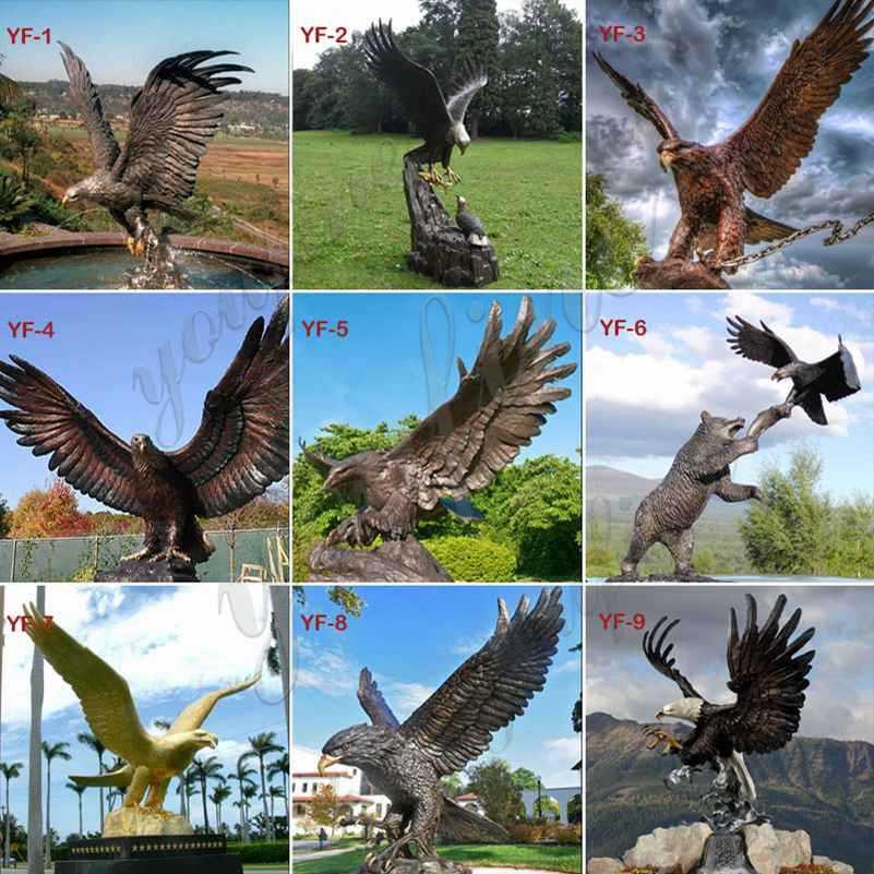 solid bronze eagle statue for sale