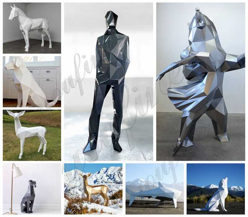 stainless steel garden sculpture