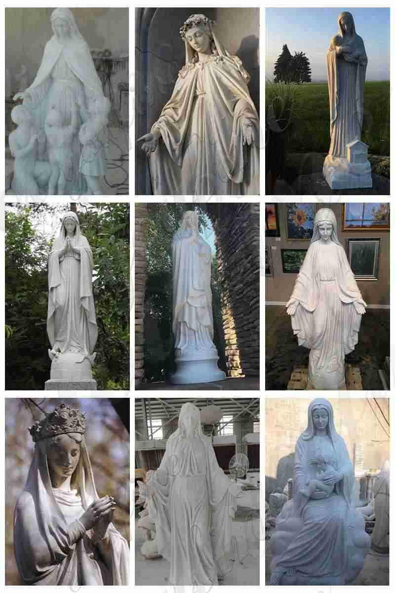 virgin mary statue for garden