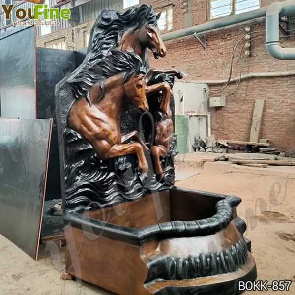 Antique Bronze Horse Wall Fountain from Factory Supply