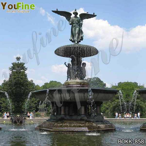 Antique Large Bronze Fountain with Angel Statues Suppliers BOKK-858
