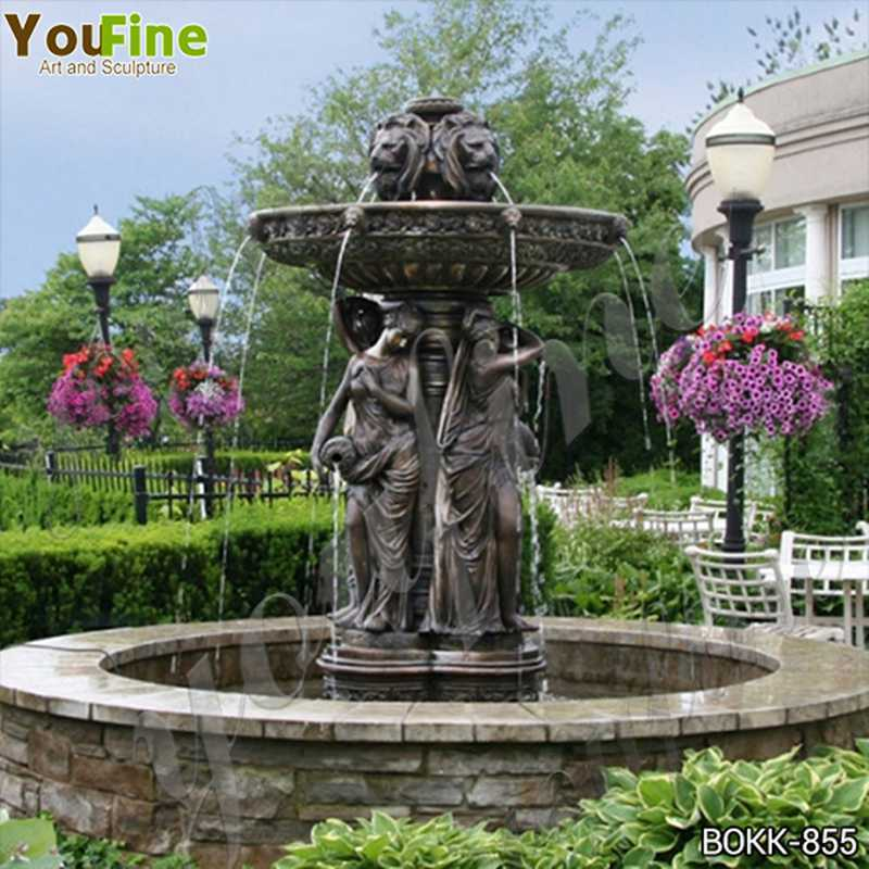 Antique Large Bronze Garden Statuary Fountain for Sale