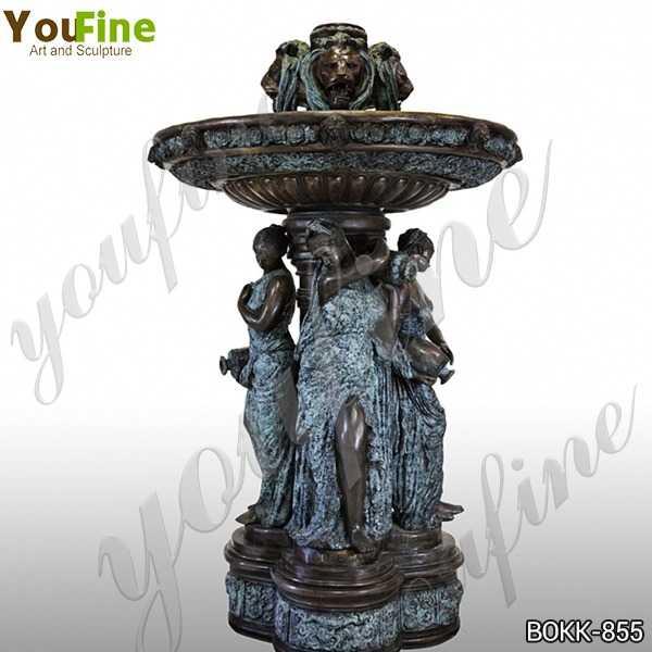 Antique Large Bronze Garden Statuary Fountain