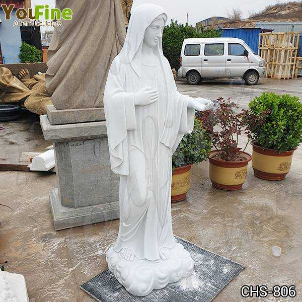 Blessed Virgin Mary Marble Statue with Outstretched Arm Suppliers