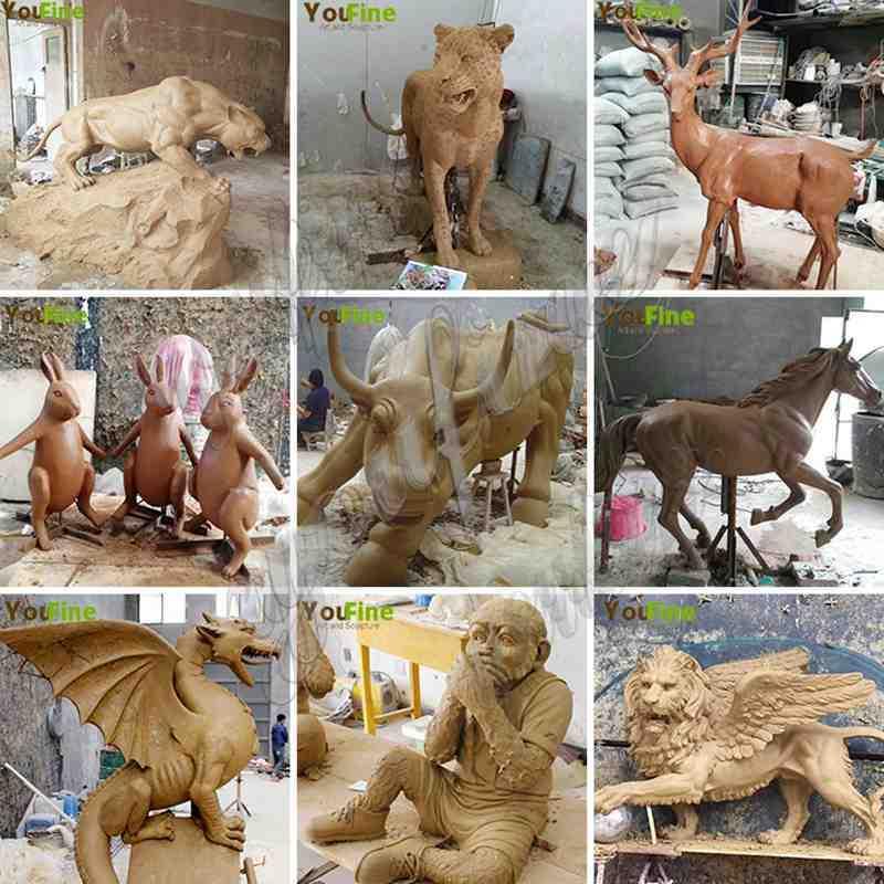 Bronze Bear Family Sculpture