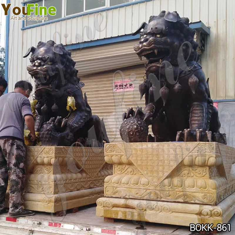 Bronze Chinese Lions Statues