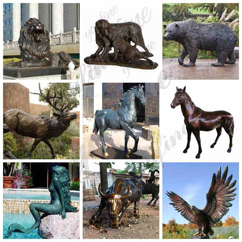 Bronze Eagle Garden Sculptures