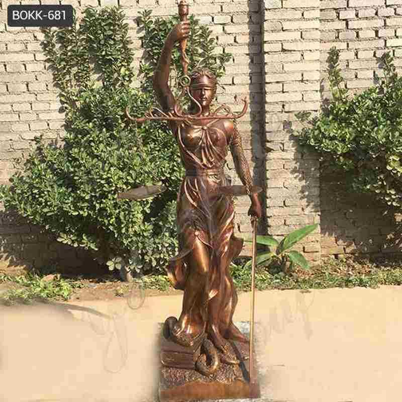 Bronze Lady Justice Statue for Outdoor Decor