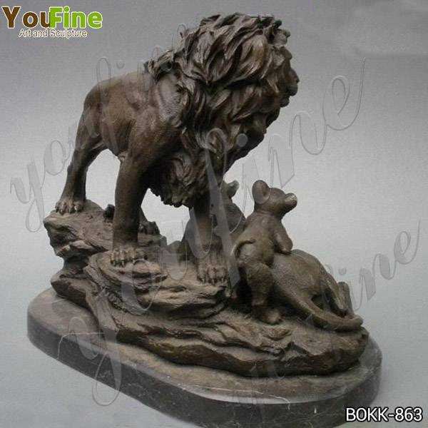Bronze Lions Sculptures for Decor