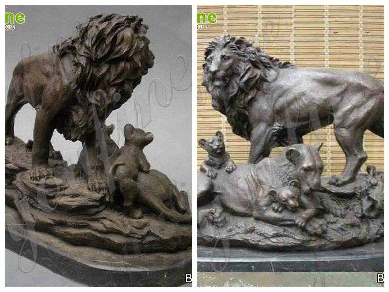 Bronze Lions Sculptures