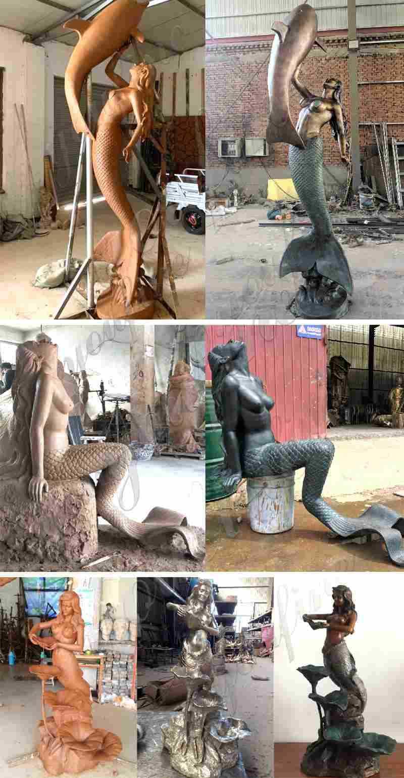 Bronze Mermaid Sculptures