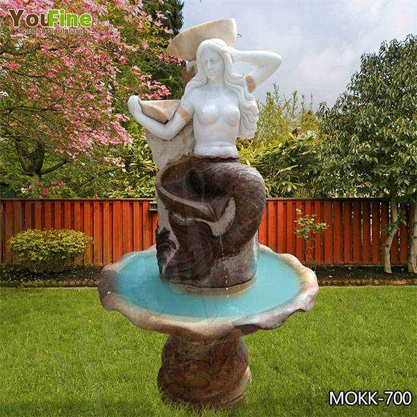 Cheap Price Garden Life Size Marble Mermaid Fountain for Sale