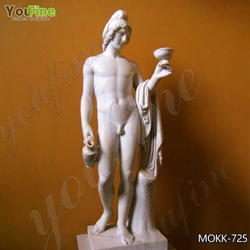 Classic Marble Ganymede Offering the Cup Statue for Sale MOKK-725