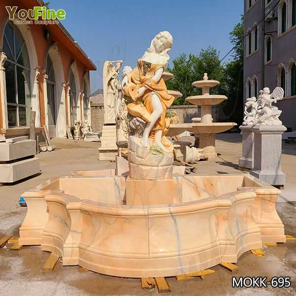 Classic Victorian Lady Beige Marble Fountain Suppliers