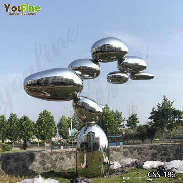 Contemporary Large Abstract Metal Lawn Sculpture