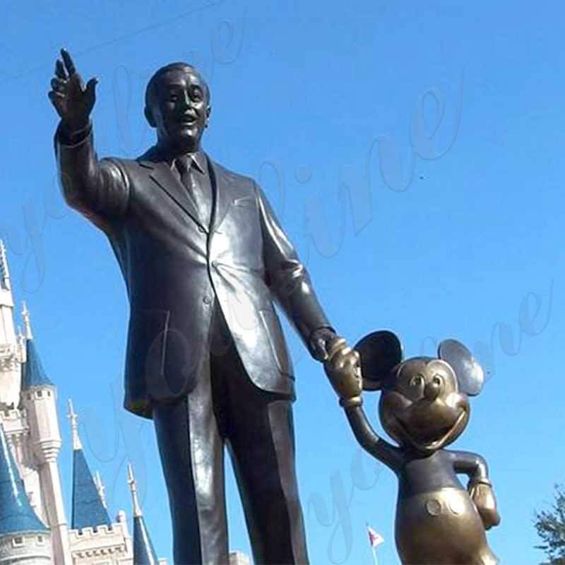 Customized Disneys Magic Kingdom Bronze Partner Statue Replica