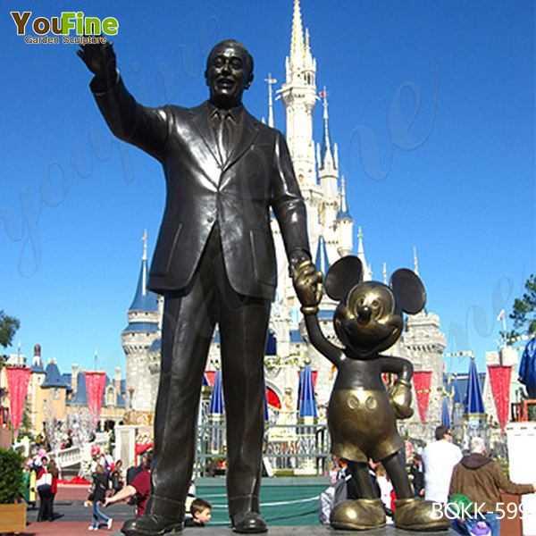 Customized Famous Disneys Magic Kingdom Bronze Partner Statue Replica Supplier BOKK-599