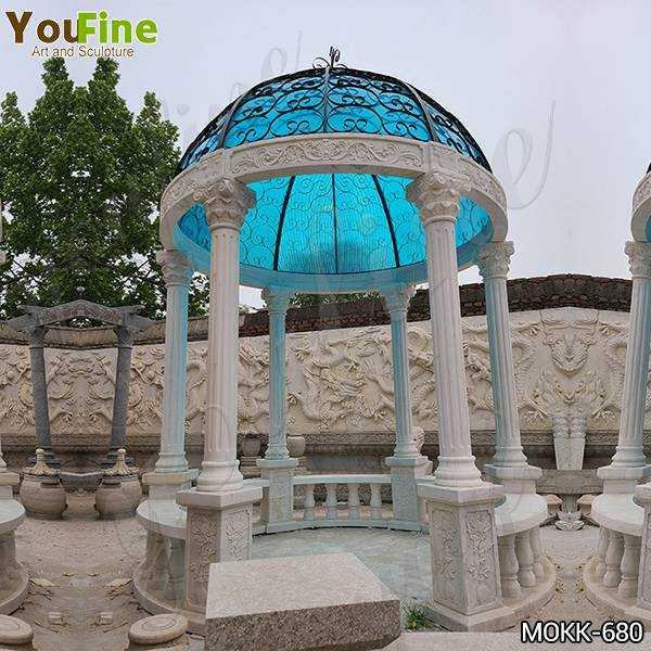 Customized Outdoor Marble Garden Column Gazebo