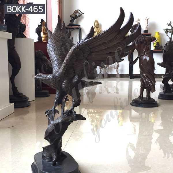 Decorative Large Bronze Eagle Sculptures for Garden Manufacturer BOKK-465