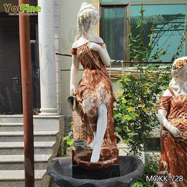 Exquisite Marble Woman Water Fountain for Garden Decoration Sale MOKK-728