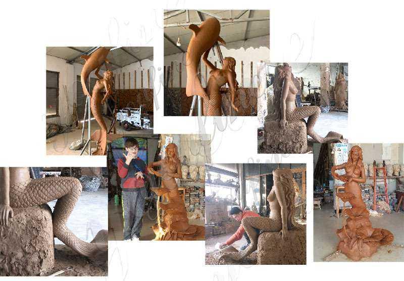 Famous Bronze Mermaid Statue