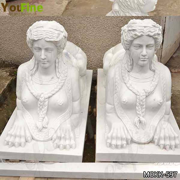 Garden Decor Egyptian Large Marble Sphinx Statues