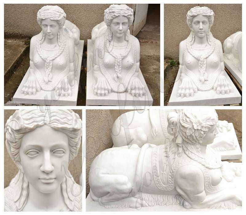 Garden Decor Large Marble Sphinx Statues
