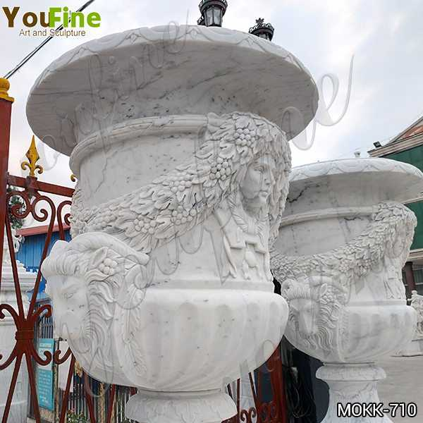 Garden White Marble Planter Pots for Sale