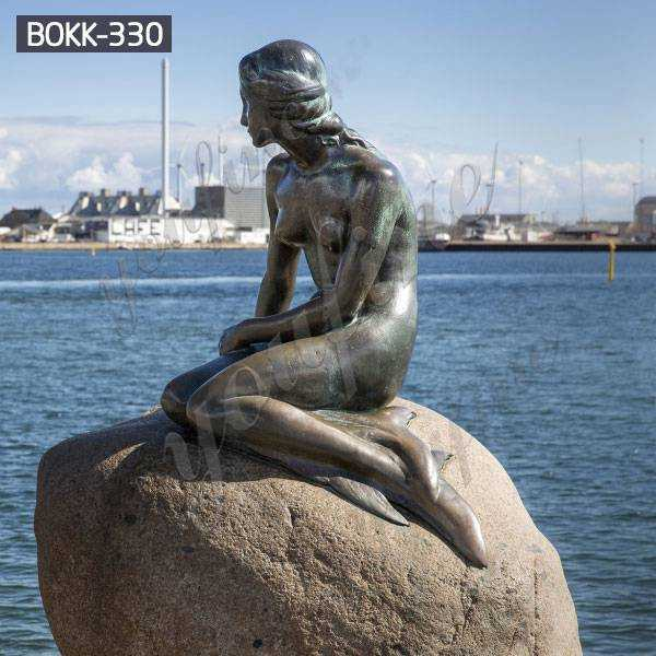 High-quality Famous Casting Bronze Mermaid Statue Design for Sale BOKK-330