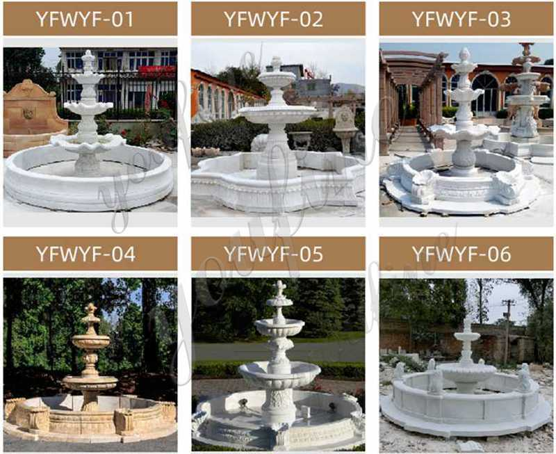 Hot Selling Outdoor 3 Tiered Marble Water Horse Fountain