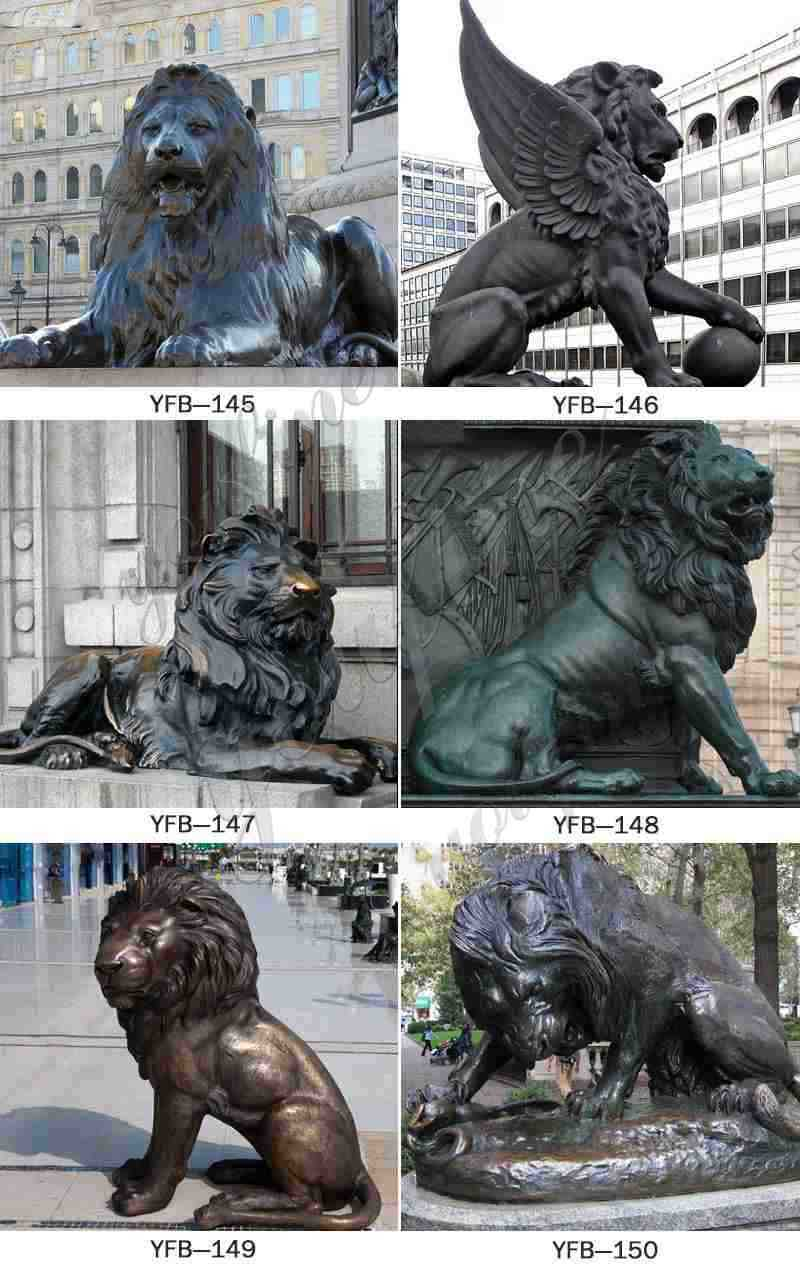 Large Bronze Chinese Lions Statue