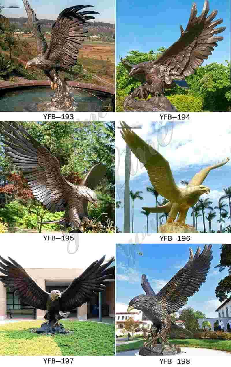 Large Bronze Eagle Sculptures