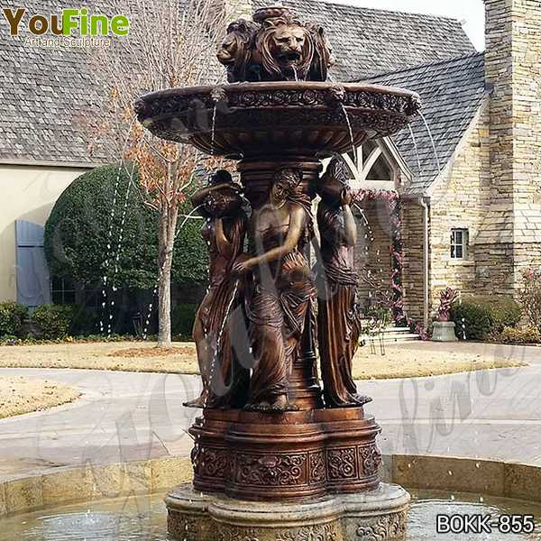 Large Bronze Garden Statuary Fountain for Sale