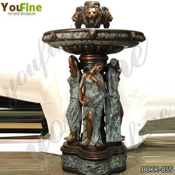 Large Bronze Garden Statuary Fountain