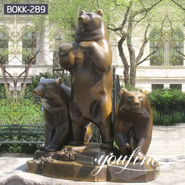 Large Bronze Mother Bear Statue for Yard Ornaments BOKK-289