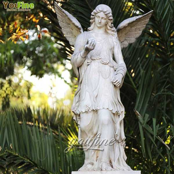 Large Marble Angel with Wings Statues for Decoration for sale MOKK-242