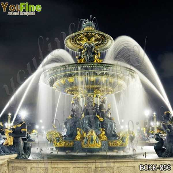 Large Outdoor Tiered Bronze Garden Water Fountain