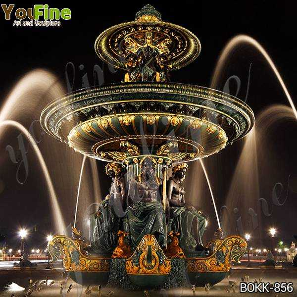 Large Outdoor Tiered Bronze Garden Water Fountain for Sale