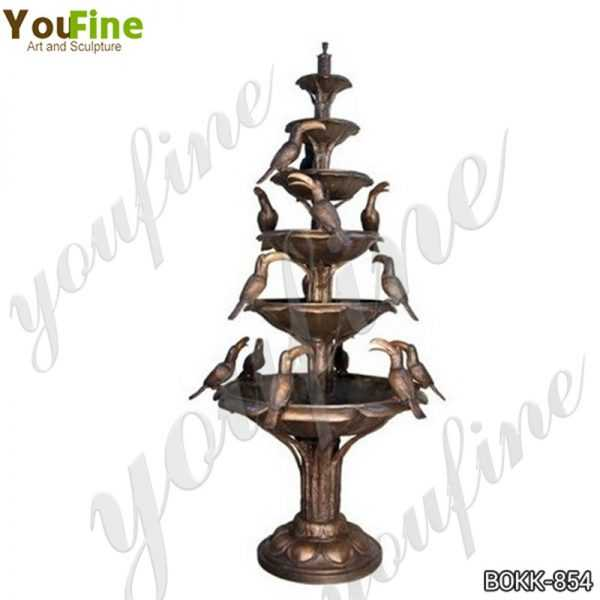 Large Outdoor Tiered Bronze Water Fountain for Sale