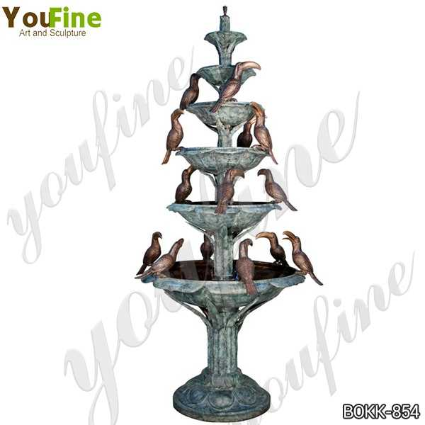 Large Outdoor Tiered Bronze Water Fountain