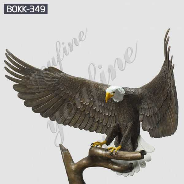 Life Size Antique Bronze Eagle Garden Sculpture with Competitive Price BOKK-349