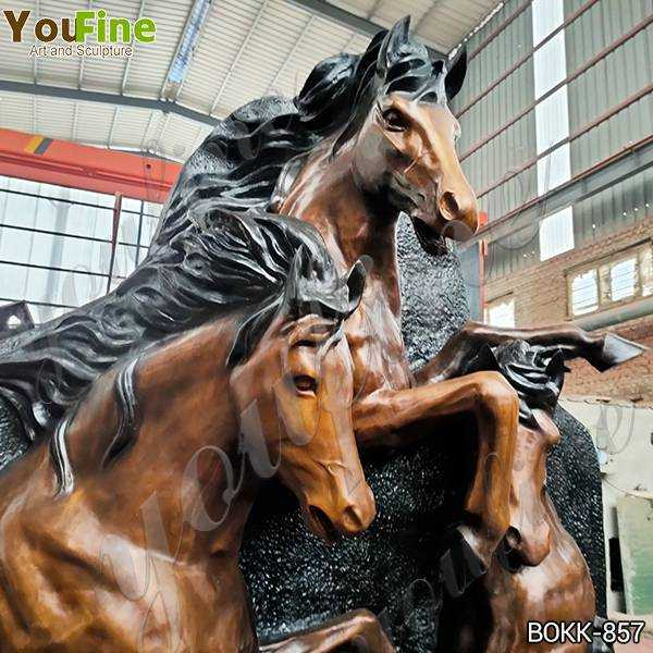 Life Size Antique Bronze Horse Wall Fountain