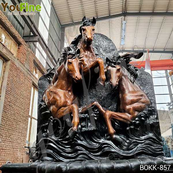 Life Size Antique Bronze Horse Wall Fountain from Factory Supply BOKK-857