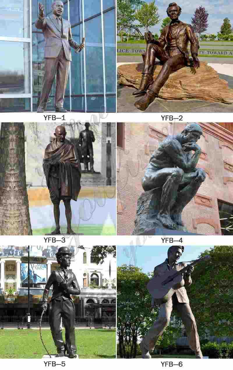 Life Size Famous Antique Bronze Man Statue