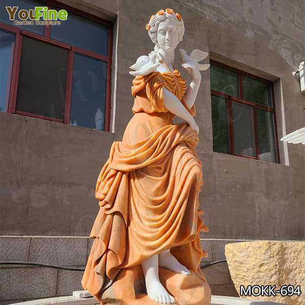 Marble Lady Statue Fountain for Garden for Sale