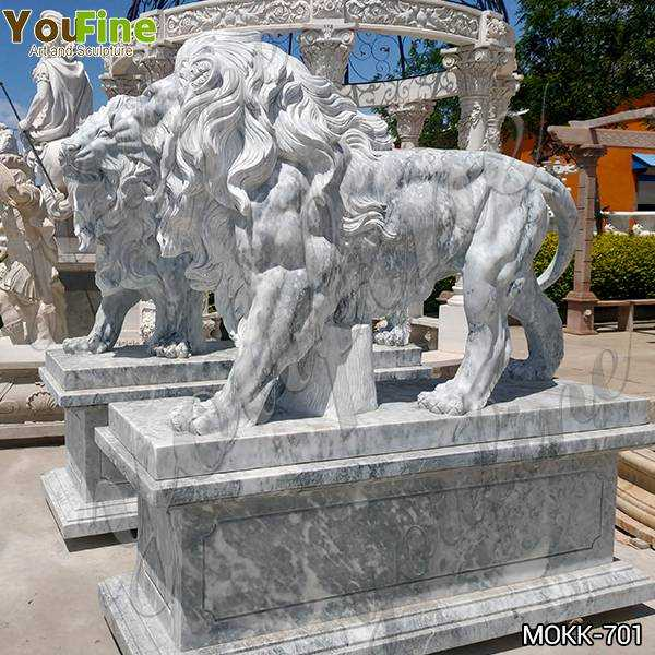Marble Walking Lion Statues Outdoor for Sale